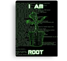 I AM ROOT (Matrix version) Canvas Print