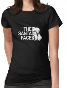 The Santa Face Christmas Holiday Vacation Gift Womens Fitted T-Shirt