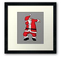 Dabbing Santa Christmas Holiday Vacation Family Gift Framed Print
