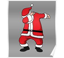 Dabbing Santa Christmas Holiday Vacation Family Gift Poster
