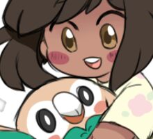 Rowlet and Trainer Sticker