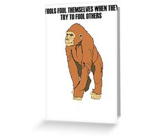 Ape  Greeting Card