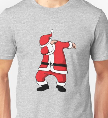 Dabbing Santa Christmas Holiday Vacation Family Gift Unisex T-Shirt