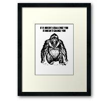 Ape sitting Framed Print