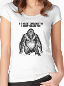 Ape sitting Women's Fitted Scoop T-Shirt