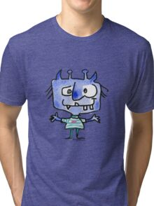 Funny Cartoon Monstar Monster 022 Tri-blend T-Shirt