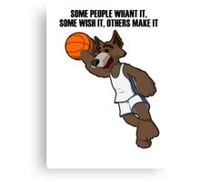 basketball wolf Canvas Print