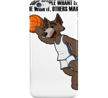 basketball wolf iPhone Case/Skin