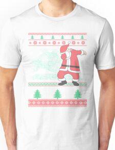 Dabbing Santa Ugly Christmas Holiday Family Snow Vacation Gift Unisex T-Shirt