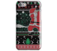 Dabbing Santa Ugly Christmas Holiday Family Snow Vacation Gift iPhone Case/Skin