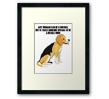 Beagle sitting Framed Print