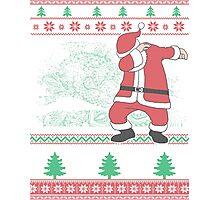 Dabbing Santa Ugly Christmas Holiday Family Snow Vacation Gift Photographic Print
