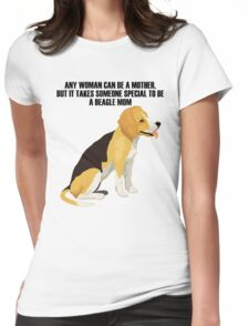 Beagle sitting Womens Fitted T-Shirt