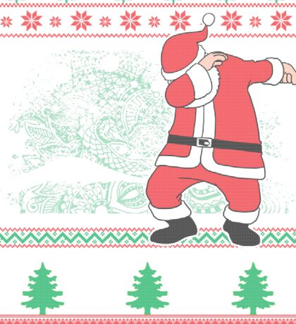 Dabbing Santa Ugly Christmas Holiday Family Snow Vacation Gift Sticker
