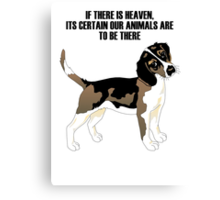 Beagle standing Canvas Print