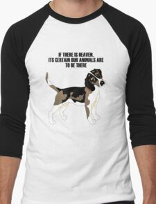 Beagle standing Men's Baseball ¾ T-Shirt