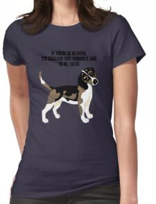 Beagle standing Womens Fitted T-Shirt