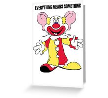 Big Earred Clown Greeting Card
