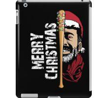 Merry Christmas Walker Zombies Baseball Negann Gift iPad Case/Skin