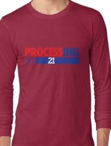 Processing 21% (Small Number Red/Blue) Long Sleeve T-Shirt