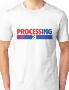 Processing 21% (Small Number Red/Blue) Unisex T-Shirt