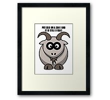 Cartoon Goat Framed Print