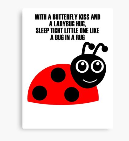 cartoon ladybug Canvas Print