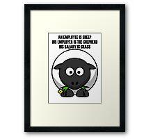 Cartoon Sheep Framed Print