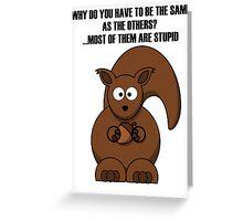 Cartoon Squirrel Greeting Card