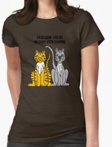 Cartoon Tigers Womens Fitted T-Shirt