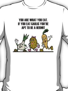 Cartoon Veggies Running T-Shirt