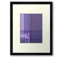 LADY IN .. PURPLE Framed Print