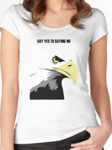 Eagle head Women's Fitted Scoop T-Shirt