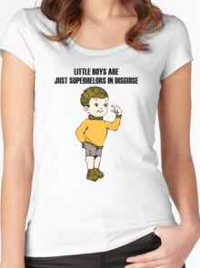 Little Boy Women's Fitted Scoop T-Shirt