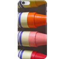COLOURFUL WAX CRAYONS iPhone Case/Skin
