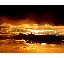 Orange clouds Photographic Print