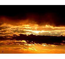 Orange clouds Photographic Print