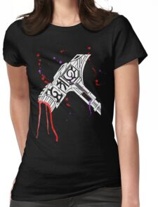 Watercolor Warhammer [White Ink] Womens Fitted T-Shirt