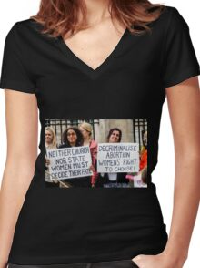 Choice Women's Fitted V-Neck T-Shirt