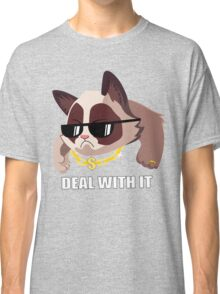 Deal with it Grumpy cat Classic T-Shirt