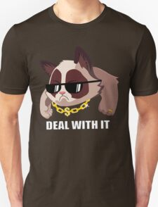 Deal with it Grumpy cat T-Shirt