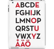 Swedish alphabet iPad Case/Skin