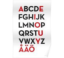 Swedish alphabet Poster