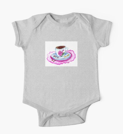 Cup of Coffee Art 2 One Piece - Short Sleeve