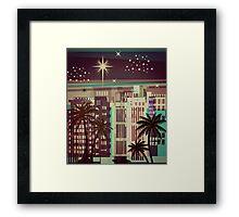 Metro Coastal Skyline Christmas Framed Print