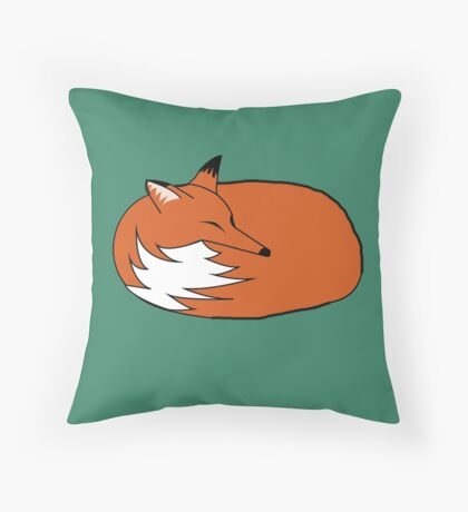 Witty Fox Throw Pillow