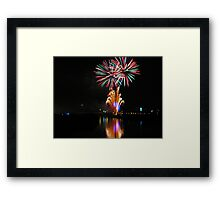 Bursting fireworks Framed Print