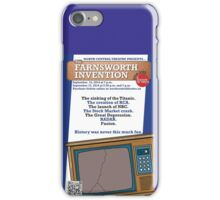 NC Theatre presents THE FARNSWORTH INVENTION by Aaron Sorkin iPhone Case/Skin
