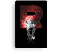 Team Rocket Minimalist Nebula Design Canvas Print