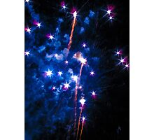 Blue explosions Photographic Print